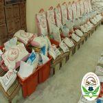بر بن هشبل توزع أكثر من 200 سلة غذائية