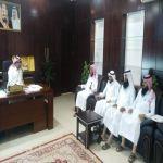 وفد من جمعية البر في زيارة رئيس بلدية وادي بن هشبل