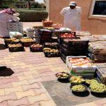 توزيع كمية من الفاكهة و الخضروات بعد ضبطها من بلدية وادي بن هشبل