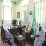 زيارة رجل الأعمال الأستاذ / خالد بن محمد بن منصور لجمعية البر بوادي بن هسبل